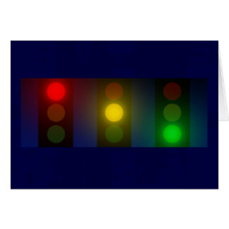 Traffic Lights Christmas card