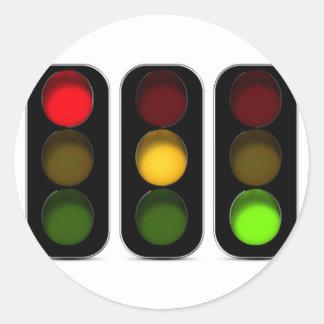 Traffic Lights Design Classic Round Sticker