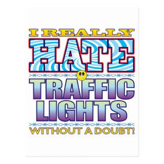 Traffic Lights Hate Face Postcard