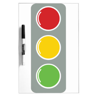 Traffic lights red green amber dry erase board