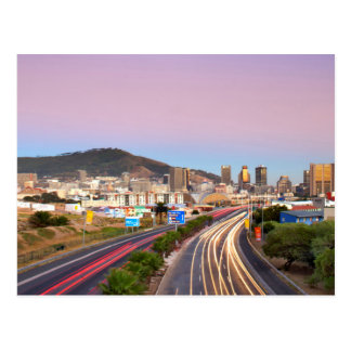 Traffic On Motorway To Cape Town, Western Cape Postcard