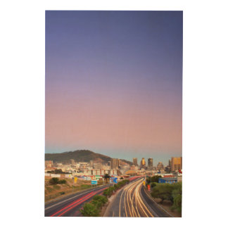 Traffic On Motorway To Cape Town, Western Cape Wood Canvases