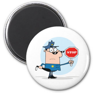 Traffic Police Officer 6 Cm Round Magnet