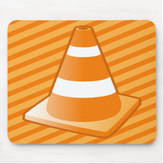 Traffic Safety Cone Mouse Pads