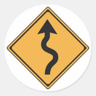 traffic sign classic round sticker