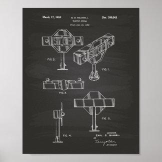Traffic Signal 1953 Patent Art Chalkboard Poster