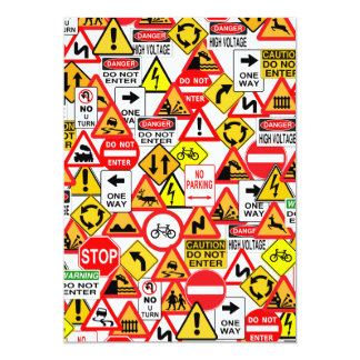 Traffic signs invitation - customize