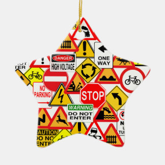 Traffic signs ornament - customize!