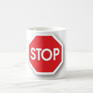 Traffic stop sign (infrastructure road works) coffee mug