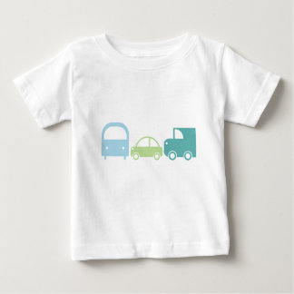 Traffic Tee in Soft Blues and Greens