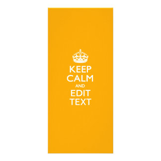 Traffic Yellow Background Keep Calm And Your Text Custom Rack Cards