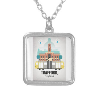 TRAFFORD, MANCHESTER SILVER PLATED NECKLACE