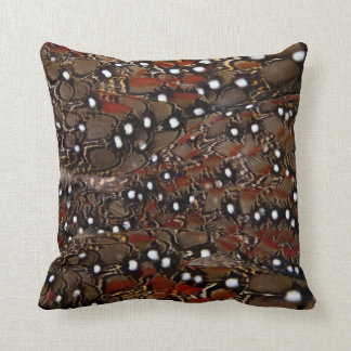Tragopan Breast Feather Abstract Cushion