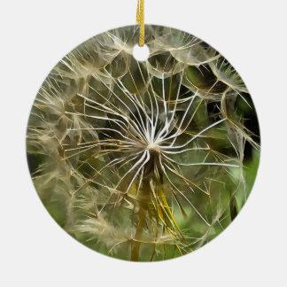 Tragopogon Flower Salsify Ceramic Ornament