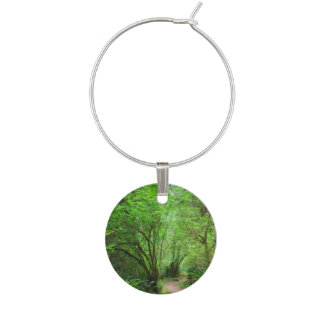 Trail in Redwood Forest Wine Charm