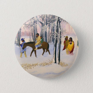 Trail of Tears Fine Art custom buttons. 6 Cm Round Badge