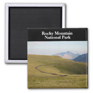 Trail Ridge Rocky Mountain National Park Square Magnet