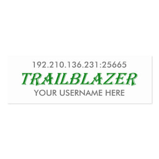 Trailblazer Minecraft Server Business Card