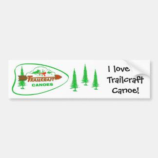 Trailcraft Canoe Bumper Sticker