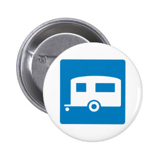 Trailer Camping Highway Sign Button