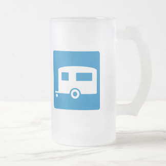 Trailer Camping Highway Sign Coffee Mug
