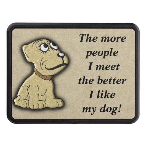 Trailer Hitch Cover -dogs