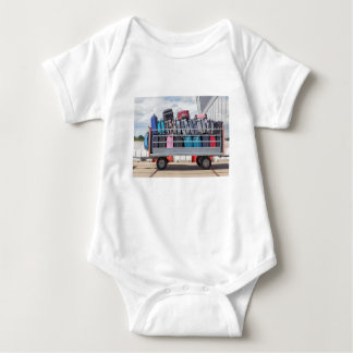 Trailer on airport filled with suitcases.JPG Baby Bodysuit