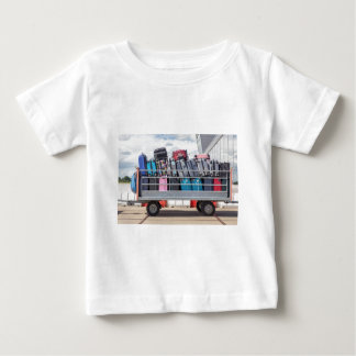 Trailer on airport filled with suitcases.JPG Baby T-Shirt