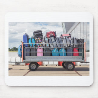 Trailer on airport filled with suitcases.JPG Mouse Pad