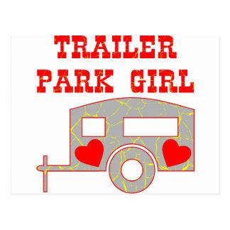 Trailer Park Girl Postcard