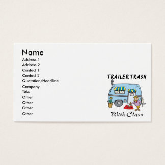 trailer park trash with class business card