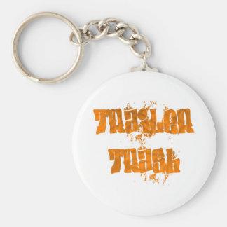 trailer trash graffiti design basic round button key ring