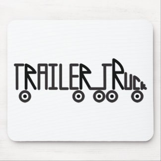 Trailer Truck Mouse Pad
