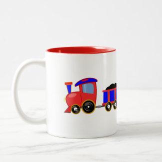 train-312107 train cartoon toy engine cars red blu coffee mugs