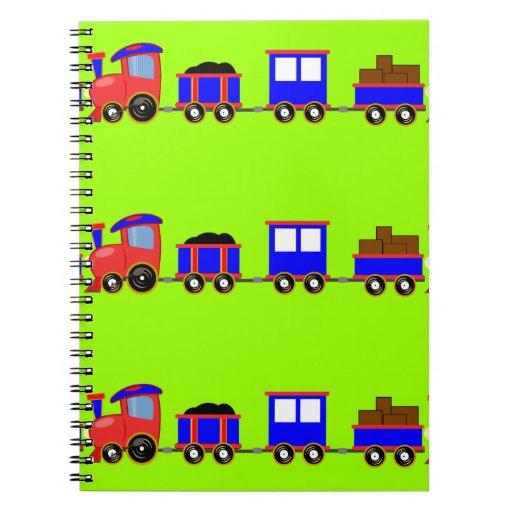 train-312107 train cartoon toy engine cars red blu note book