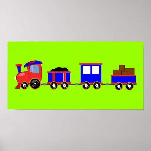 train-312107 train cartoon toy engine cars red blu print