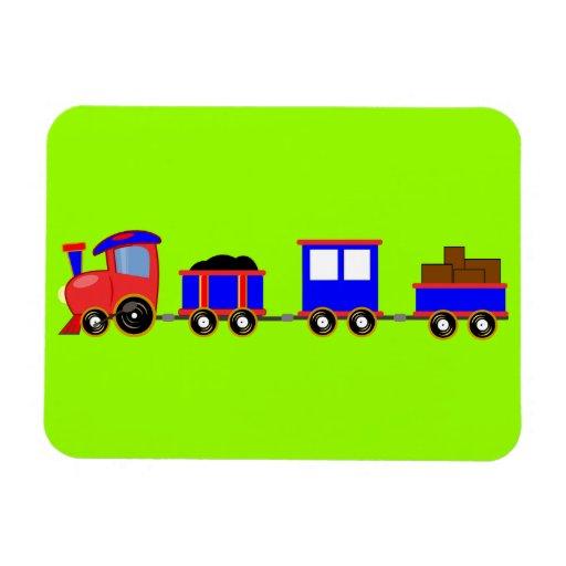 train-312107 train cartoon toy engine cars red blu magnets