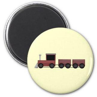 Train 6 Cm Round Magnet