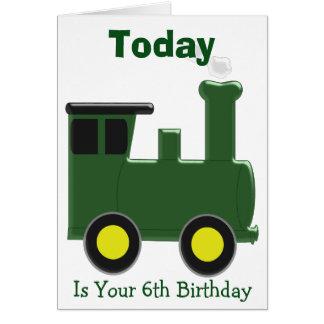 Train 6th Birthday Card