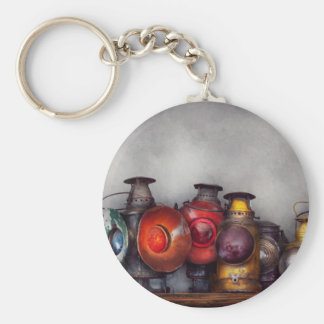 Train - A collection of Rail Road lanterns Basic Round Button Key Ring