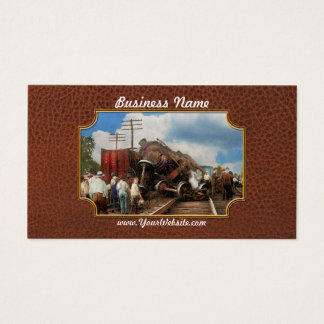 Train - Accident - Butting heads 1922 Business Card