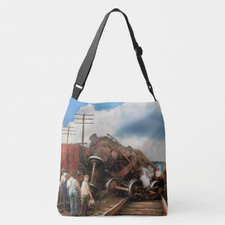 Train - Accident - Butting heads 1922 Crossbody Bag
