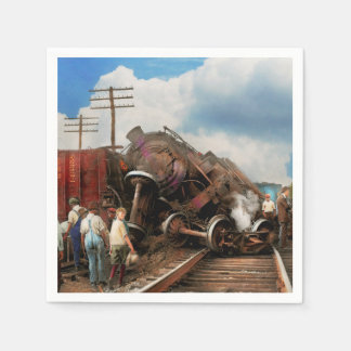 Train - Accident - Butting heads 1922 Disposable Serviettes