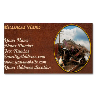 Train - Accident - Butting heads 1922 Magnetic Business Card
