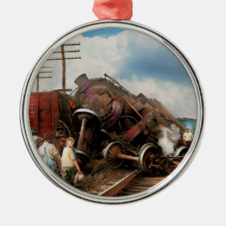 Train - Accident - Butting heads 1922 Metal Ornament
