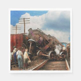 Train - Accident - Butting heads 1922 Paper Serviettes