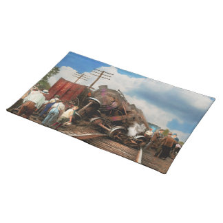 Train - Accident - Butting heads 1922 Placemat