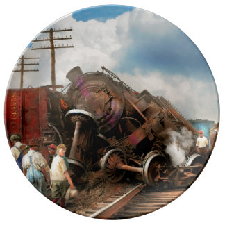 Train - Accident - Butting heads 1922 Plate