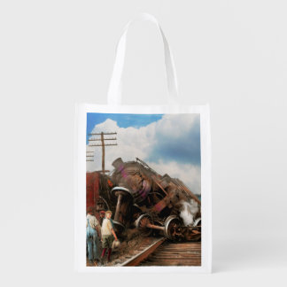 Train - Accident - Butting heads 1922 Reusable Grocery Bag