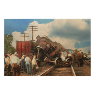 Train - Accident - Butting heads 1922 Wood Print